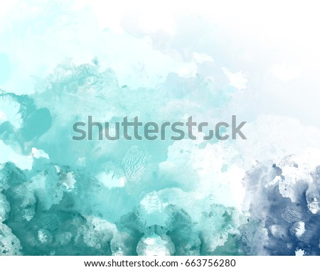 White And Blue Color Graphic Watercolor Grunge Background Decoration Abstract Template Wallpaper Design