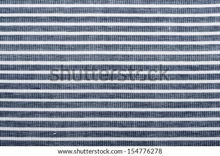 White and blue striped fabric texture with copy space - stock photo