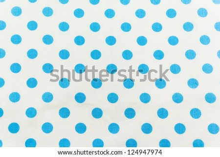 White and Blue Tiny  Polka Dots Background - stock photo