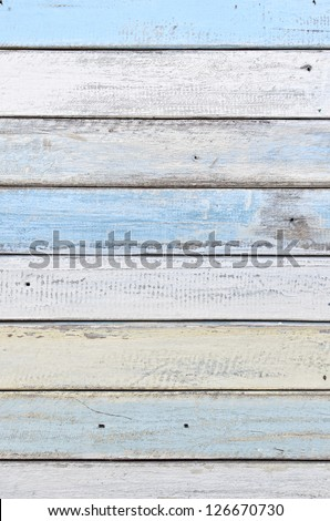 white and blue wood texture - stock photo