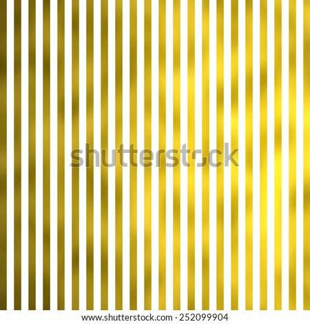White and Gold Metallic Faux Foil Stripes Background Striped Texture