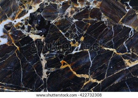 White and gold patterned natural of dark gray marble pattern texture. - stock photo