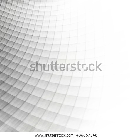 White and gray soft squares, abstract perspective background. Abstract futuristic grey perspective background. Ideal for technology concept futuristic cover works or background designs. - stock photo
