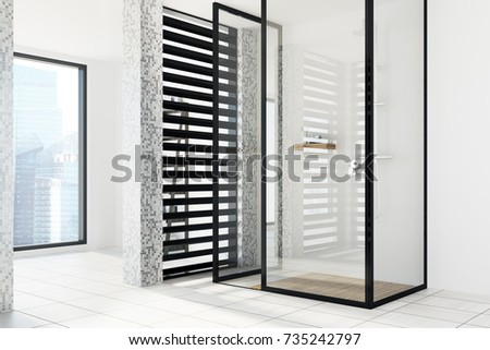 Bathroom stall door stock images royalty free images - Bathroom partition installers near me ...