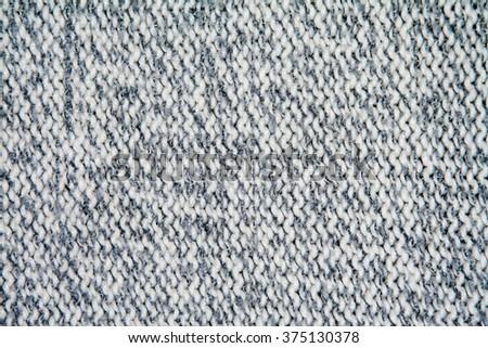 white and gray weave wool yarn - stock photo