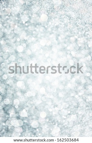 white and grey bokeh lights. defocused background - stock photo