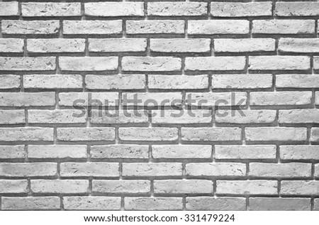 White and grey brick wall. - stock photo