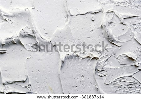 white and grey oil abstract background painting - stock photo
