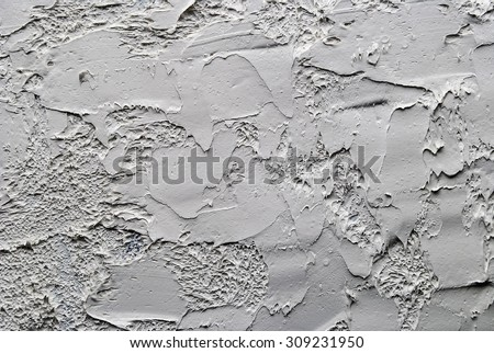 white and grey oil abstract background painting on a palette - stock photo