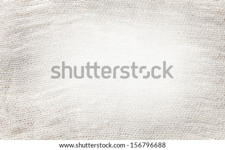 White and light gray texture of gauze background with clear space for your own text - stock photo