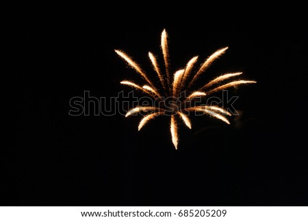 white and orange firework