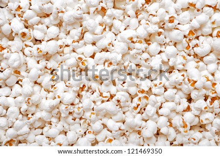 white and plain popcorn for background uses