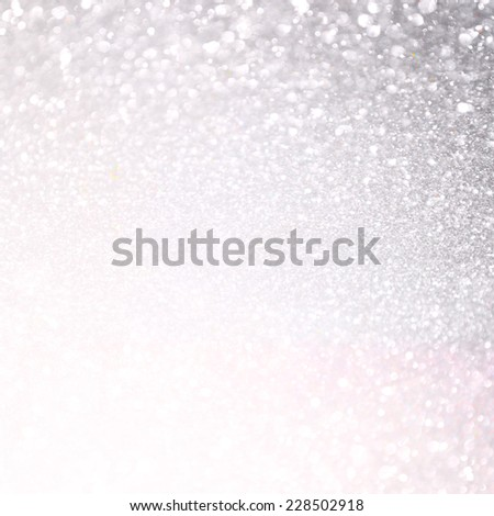 white and silver abstract bokeh lights. defocused and textured background   - stock photo