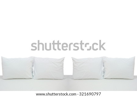 White and sofa on white background.