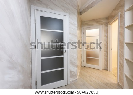 modern bedroom doors. White apartment interior hall design with white doors  modern style chisinau moldova Bedroom Door Stock Images Royalty Free Vectors