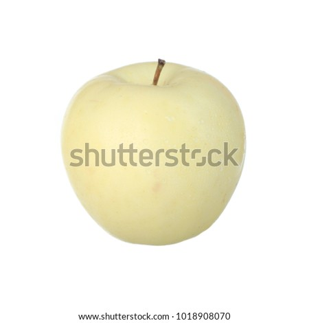 white apple isolated on white