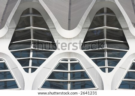 Modern Architecture Arches white arches windows modern european architecture stock photo