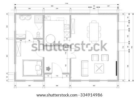 White architect plan personnal house construction stock illustration white architect plan for personnal house construction ccuart Gallery