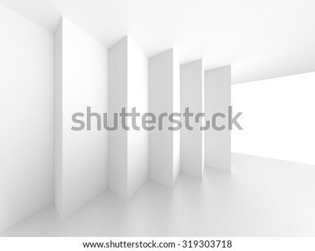 White Architecture Construction. Abstract Background