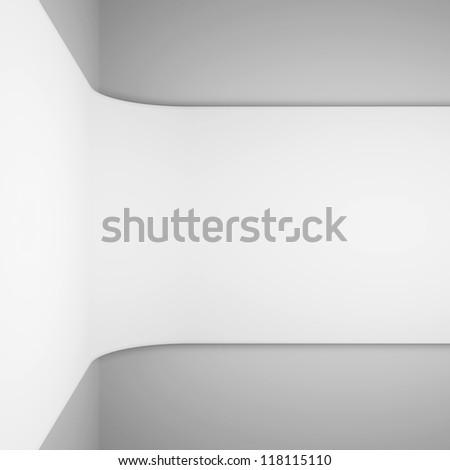 White Architecture Rendering - stock photo