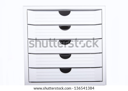 White archive icon isolated on white - stock photo