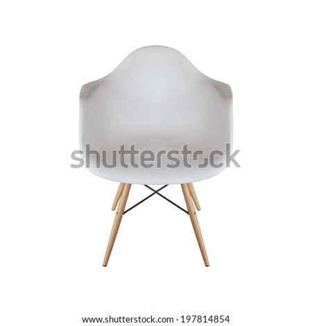 white armchair isolated