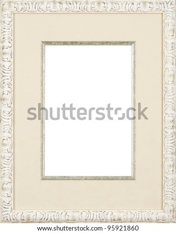 white art picture frame - stock photo