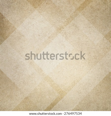 white background. beige background. abstract triangle rectangle pattern - stock photo