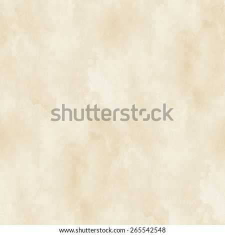 white background, beige watercolor spots, seamless pattern, paper texture - stock photo