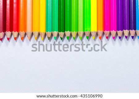 White Background crayons