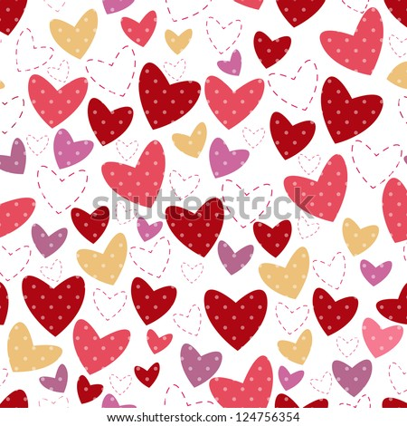 white background for postcard with heart and point illustration - stock photo