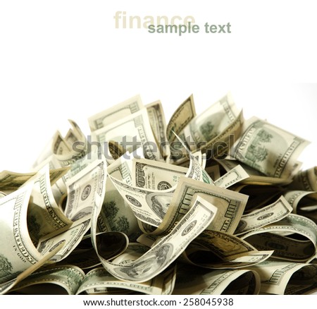white background for you and dollars  - stock photo