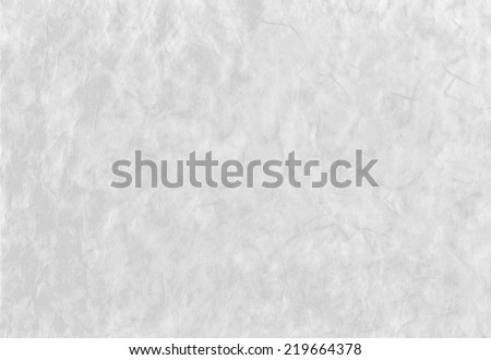 White background from artistic handmade japanese paper with fibers texture - stock photo