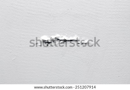 white background rough old cement plaster wall - stock photo