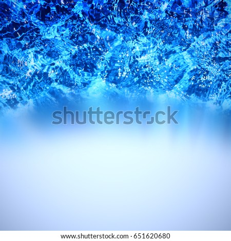 White background with water