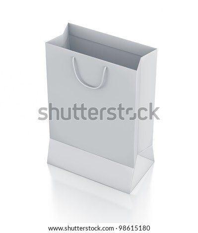 White bag. High resolution 3D illustration with clipping paths. - stock photo