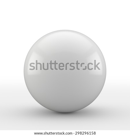 White ball with reflection
