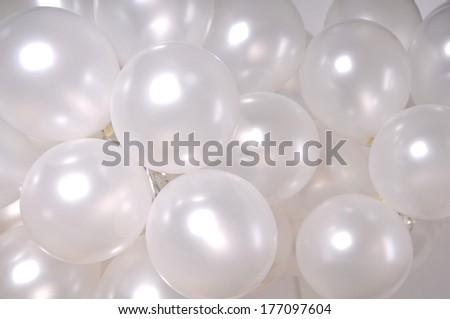 White  balloons - stock photo