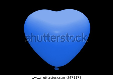 White baloon isolated - stock photo