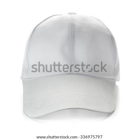 White baseball cap on white background