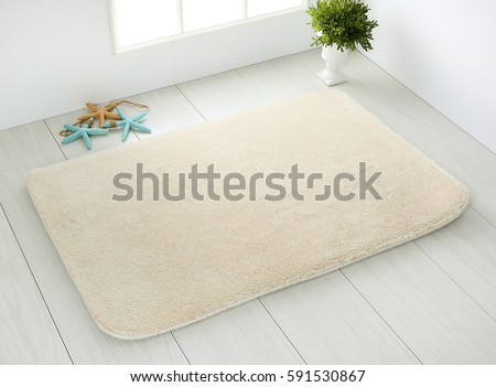 white bathroom carpet on white wooden floor - Bathroom Carpet
