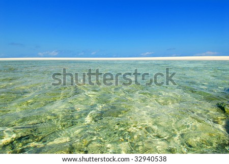 white beach and clear in Madagascar