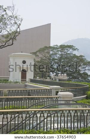 White beacon, Hong Kong - stock photo