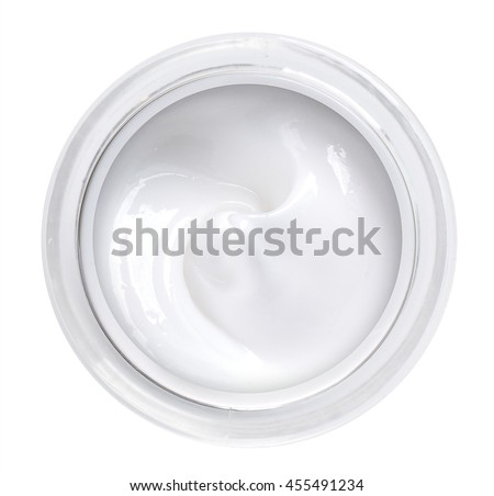 white beauty cream  top view