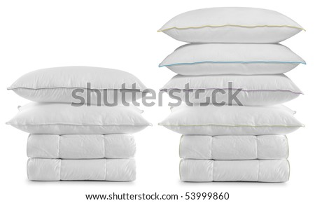 White bedding over white. - stock photo