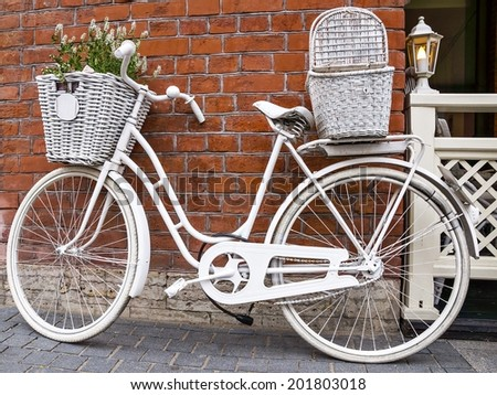 white bicycle-beds