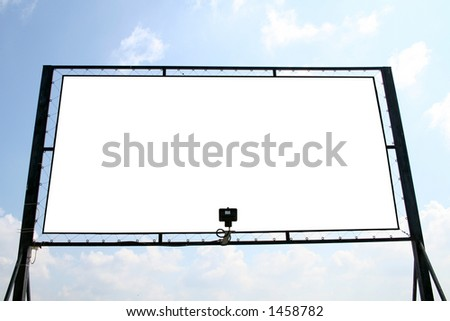 White billboard with isolated interior copyscpace for your ad
