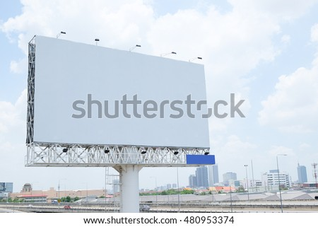 white billboards in city