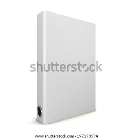 White binder. 3d illustration isolated on white background  - stock photo