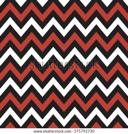 White, Black and Red Chevron for Albums, Graphics, Invitations, and Scrapbooks